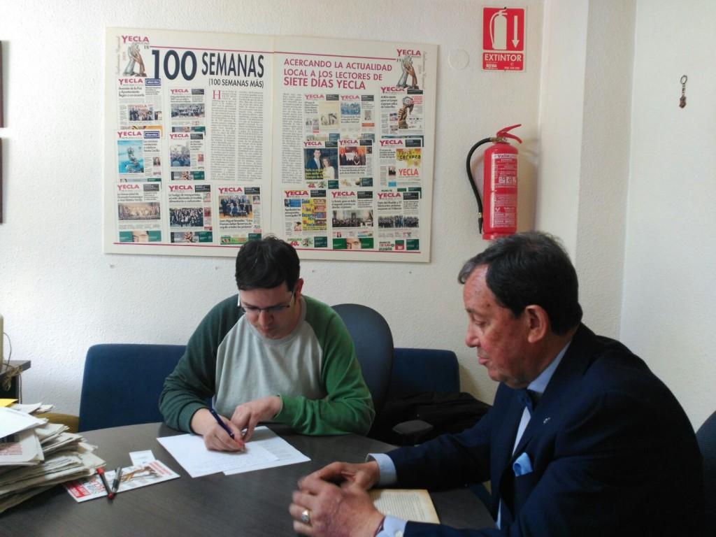 Entrevista en el diario SIETE DÍAS YECLA
