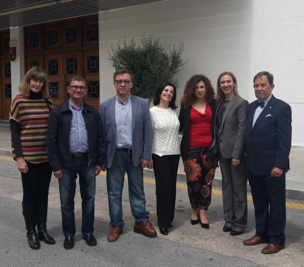 Juan AAngel Gato con Grupo de socios AEP - Región de Murcía
