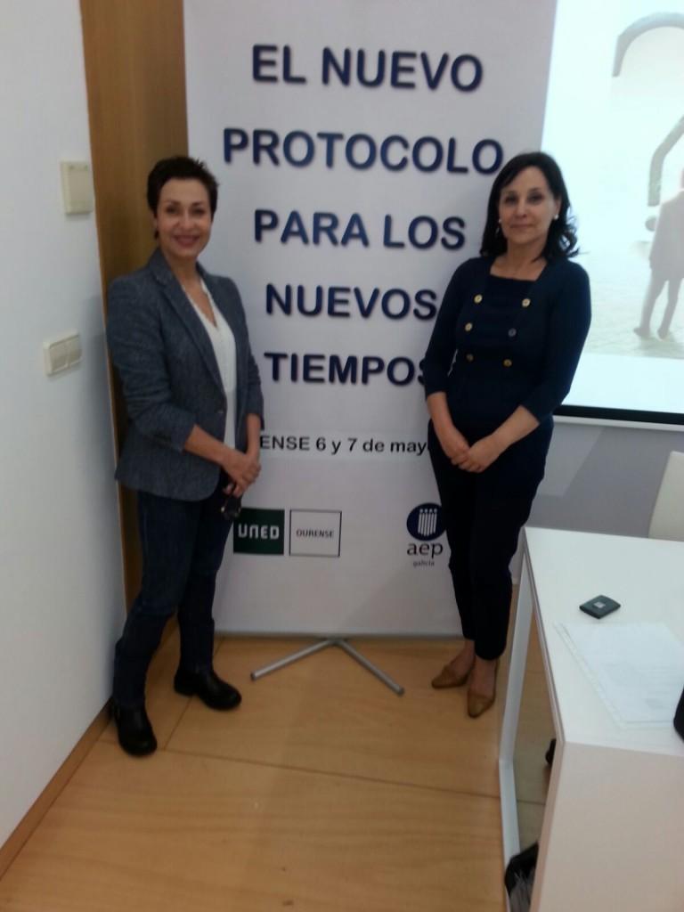 Olga Casal y Cristina Rey