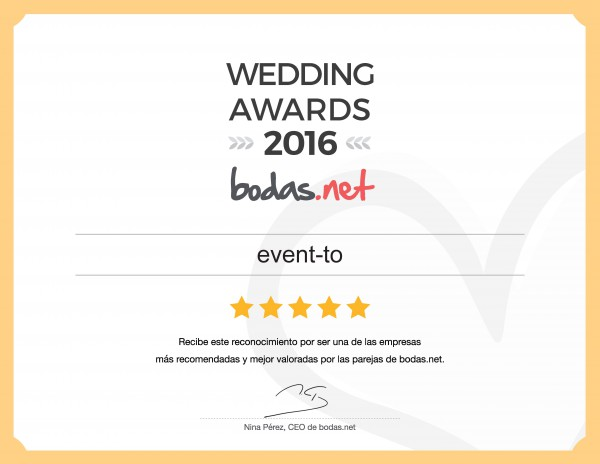 Galardón Wedding Awards 2016