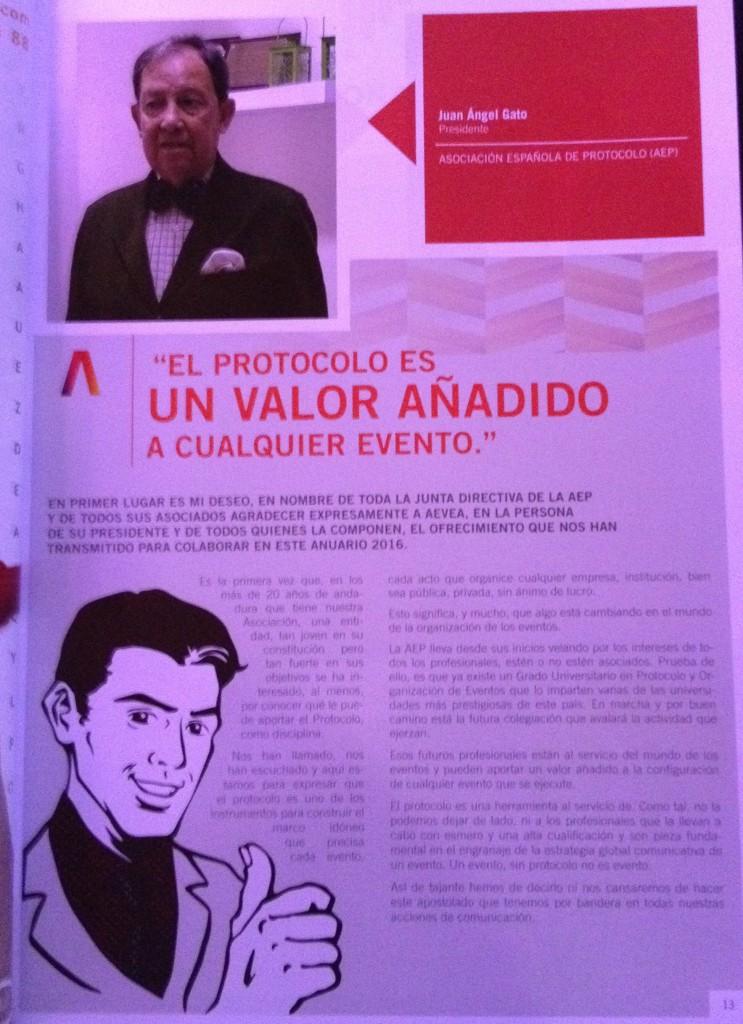 Carta Presidente Anuario AEVEA