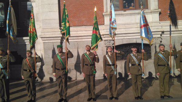 desfile militar en congreso de protocolo de Valladolid
